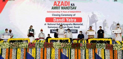 25-day long ceremonial 'Dandi March' as part of 'Aazadi ka Amrit Mahotsav' concludes on a colourful note