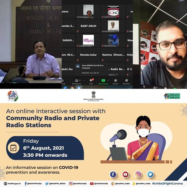 Union Health Ministry organizes an Interactive Workshop with Community Radio Stations and Private Radio Stations from Southern States